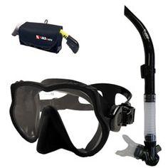 Snorkeling Scuba Dive Frameless Mask Snorkel Gear Bag Set, Scuba Gear, Scuba Equipment and Scuba Diving Equipment. Getwetstore.com