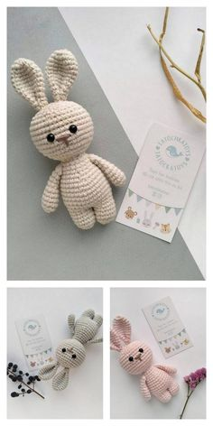 Amigurumi Little Cute Bunny Free Pattern – Free Amigurumi Patterns - Knitting Crochet Bunny Pattern, Crochet Amigurumi Free Patterns, Crochet Animal Patterns, Stuffed Animal Patterns, Crochet Dolls, Crochet Stitches, Free Crochet, Easter Crochet, Crochet Crafts