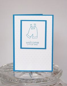 Blue Overalls Congrats on the New Baby Boy Hand Made Card | Laurascrafts - Cards on ArtFire