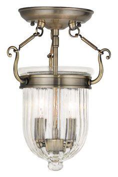 View the Livex Lighting 50512 Coventry 2 Light Semi-Flush Ceiling Fixture at LightingDirect.com.