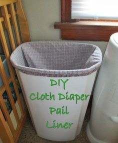 In my most recent post I mentioned how I made a pail liner. They sell wet ba Cloth Diaper Pail, Best Cloth Diapers, Diy Diapers, Reusable Diapers, Cloth Nappies, Cloth Bags, Wet Bag, Handmade Baby, Diy Baby