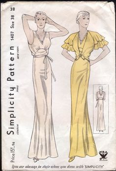 Simplicity 1407: gorgeous 30s nightgown and jacket