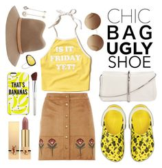 """""""Chic Bag Ugly Shoes"""" by ivansyd ❤ liked on Polyvore featuring Hollister Co., Dorothy Perkins, 3.1 Phillip Lim, Victoria Beckham, rag & bone, Yves Saint Laurent, Kate Spade, John Lewis, Christina Debs and uglyshoes"""