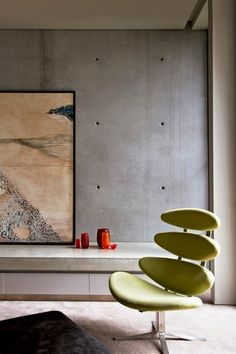 sorrento | Australian Interior Design Awards - The Corona Chair in its element. http://www.danishdesignstore.com/products/corona-chair-by-erik-jorgensen