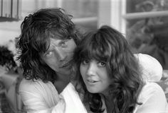 "Linda Ronstadt and Mick Jagger, Malibu, CA 1976 ""Ronnie Wood's House in Malibu was a magnet for musicians and Linda was just..."