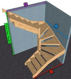New Open Basement Stairs Wood Staircase Ideas Spiral Staircase basement Ideas Open staircase Stairs Wood Open Basement Stairs, Open Stairs, Attic Stairs, Wood Stairs, House Stairs, Basement Ideas, Stairs To Loft, Small Space Staircase, Loft Staircase