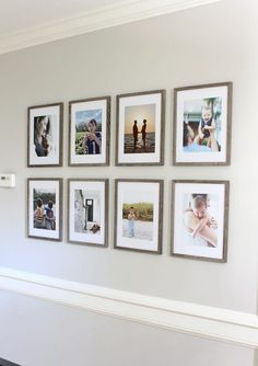 How to Hang a Grid-Style Gallery Wall Gallery Wall Frames, Frames On Wall, Diy Picture Frames On The Wall, Hanging Frames, Gallary Wall, Hallway Pictures, Portrait Wall, Hallway Decorating, Decorating Ideas
