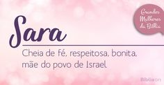loja: 9 grandes mulheres da Bíbliaa 1ª SARA A Bíblia tem...