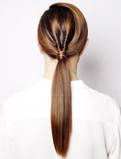 Minimal + Classic: Twisted, low ponytail #hair