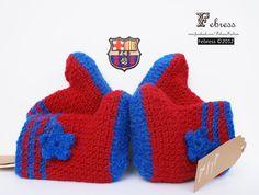 Barcelona Baby Shoes Baby Barcelona football by febressfashion,