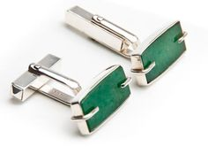 Ioana Enache - Romanian Designer Jade Cufflinks - Unique Product Made of: 925 sterling silver and jade. Madness, Jade, Cufflinks, Fine Jewelry, Sterling Silver, Unique, Accessories, Design, Wedding Cufflinks