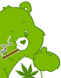 "Cannabis bear ""Smoking is only one way to enjoy marijuana, you will love it more in edibles you make easily yourself. Marijuana Art, Medical Marijuana, Marijuana Funny, Dragon's Teeth, Stoner Art, Weed Art, Weed Humor, Pop Art, Puff And Pass"