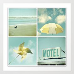 Coastal Collage Art Print by simplyhue - $18.00