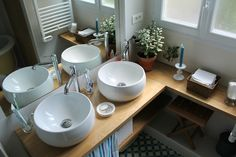 1000 images about salle de bain on pinterest bathroom bathroom sink cabin - Salle de bain vintage ...