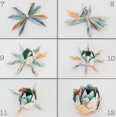 origami-facile-original-fleur-lotus-carte-routière-étape-finale