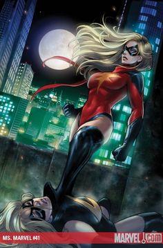 Dark Avengers Ms. Marvel (Moonstone) gets the best of Ms. Marvel