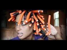 No Heat Flexi Rod set on Natural Hair