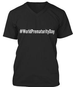 #World Prematurity Day Black T-Shirt Front