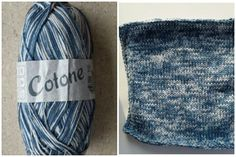 Lana Grossa Cotone & how it appears in a 20x20 cm knitted square