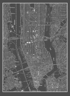 Printable new york city map new york city map printable pictures 2 new york city map new york city manhattan street map vintage dark gray print poster malvernweather Images