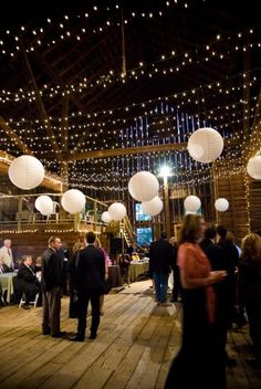Outdoor lighting love the paper lanterns