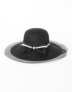 #VIPme Black Elegant Wide Brim Summer Holiday's Floppy Sun Hat ❤️ Get more outfit ideas and style inspiration from fashion designers at VIPme.com.