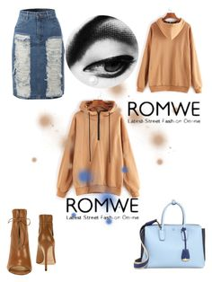"""""""Khaki hoodie"""" by mscrispkia on Polyvore featuring LE3NO, Jimmy Choo and MCM"""