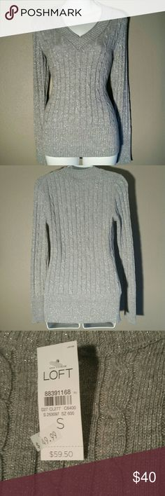 NWT V neck sweater by LOFT CONDITION: New With Tags! --- CONCERNS: None! --- I will provide more pics, materials, measurements, etc. upon request! --- ***I welcome ALL OFFERS and do bundle discounts!*** LOFT Sweaters V-Necks