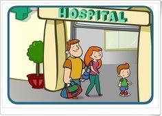 """""""Ven conmigo al Hospital"""" es una magnífica animación, de mundodeestrellas.es, en la que el niño se familiariza con el hospital, sus dependencias, funciones, personal, etc., además de conocer la experiencia de cómo está un niño enfermo dentro del hospital."""