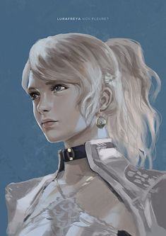 Kingsglaive: Final Fantasy XV, Lunafreya Nox Fleuret by Rozelque Final Fantasy Xv, Fantasy Series, Fantasy World, Fantasy Art, Fantasy Characters, Female Characters, Digital Portrait, Digital Art, Noctis