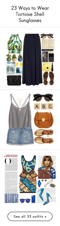 """23 Ways to Wear Tortoise Shell Sunglasses"" by polyvore-editorial ❤ liked on Polyvore featuring tortoiseshellsunglasses, waystowear, River Island, Dorothy Perkins, Christian Dior, KEEP ME, The Cambridge Satchel Company, Illesteva, Pelle and Scotch & Soda"