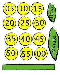 Free Flower Clock Template to decorate your classroom clock by Evil Math Wizard Classroom Clock, Kindergarten Classroom Decor, 3rd Grade Classroom, 1st Grade Math, Classroom Posters, Preschool Math, Math Classroom, Math Activities, Teaching Time