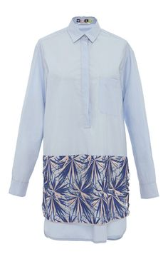 Crisp cotton shirtdress with macrame detail by MSGM