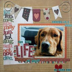 If you're planning on creating a mini album or a diary for 2012 … trust me, Simple Stories' Year.Graphy is THE one and only. Dog Scrapbook Layouts, Love Scrapbook, Scrapbook Sketches, Scrapbook Paper Crafts, Scrapbook Cards, Scrapbooking Ideas, Paper Crafting, Yearbook Layouts, Creation Deco