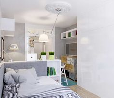 Living in a shoebox     This tiny studio apartment doesnt skimp on style