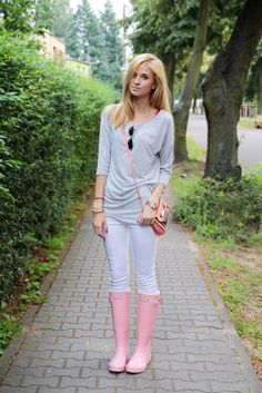 EXHIBIT F: WHAT: Madison Muse: Hunter Rain Boots WHY: because I love pink! and boots!