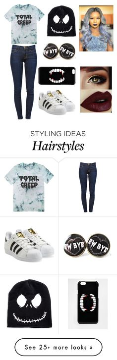 """""""Untitled #138"""" by cassienxoh on Polyvore featuring Frame Denim, adidas Originals and ASOS"""