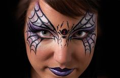 Spider mask Halloween face paint idea