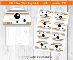 BB-8 Star Wars Bag label  BB8 treat bag by HappywithPrintables