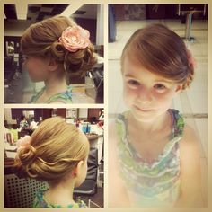 Fancy Updo to Achieve Fabulous Look for Flower Girl
