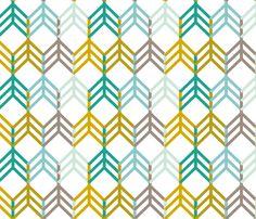 TealGoldArrows fabric by mrshervi on Spoonflower - custom fabric