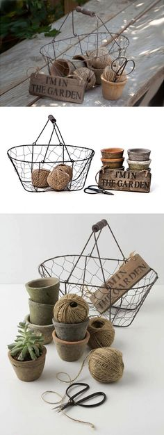 """(French Cottage) Gardener's Baset Kit, 12 Pieces :: $28.50 