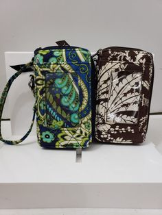 69956f46a518 Vera Bradley Lot of 2 Carry it All Wristlet Rhythm and Blue Imperial Toile  #fashion