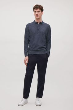 COS | Relaxed cotton-cashmere polo shirt