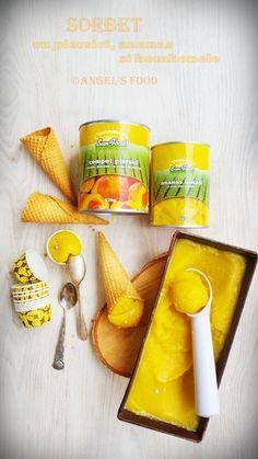Angel's food: Sorbet de piersici cu bucati de ananas si bombonel...