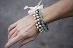 How To Make A Pretty & Unique Ombre Bead & Chain Bracelet, tutorial by Fab You Bliss