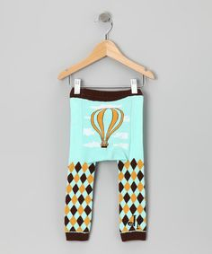 Take a look at this Blue Hot Air Balloon Leggings - Infant by Doodle Pants on #zulily today!