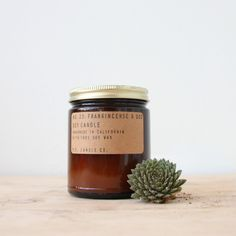 Domestically grown soy wax, fine fragrances and a cotton core-wick. Hand poured in small batches in Los Angeles by P.F. Candle Co. 7.5 oz. Spruce: Blue Spruce, Snow Powder, Cedarwood, Pine, Citrus Amb