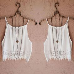 Summer Lace Crop Top