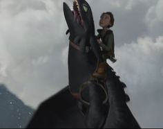 While climbing the clouds, Hiccup loves feeling the wind through his hair, whereas Toothless loves feeling the wind through his, uh, teeth... lol